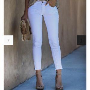 Vici White Zip Skinny Jeans